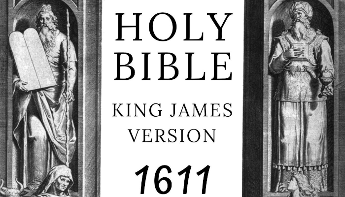 Book cover of King James Bible, 1611 Edition